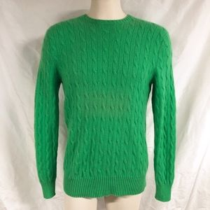 Polo Ralph Lauren Green Cable Knit Cashmere Sweate